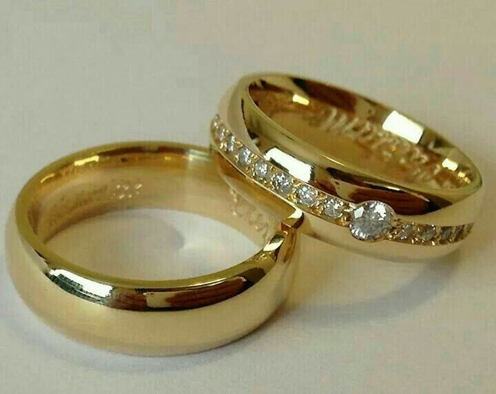 Gold Latest Wedding Ring Designs For Couple
