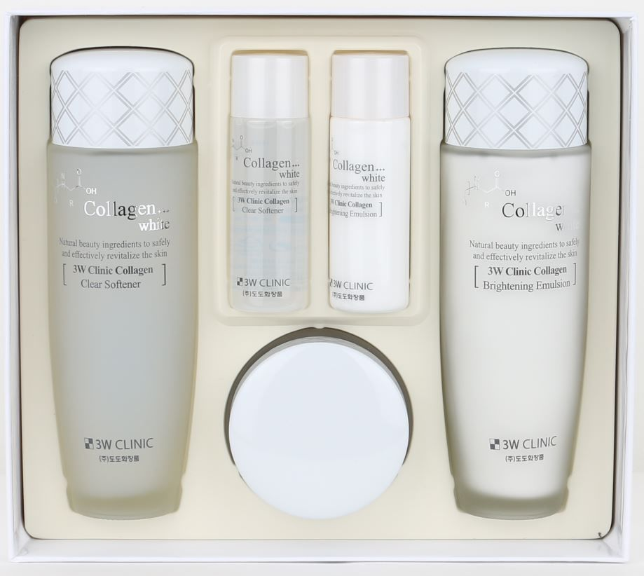 3w Clinic Collagen White Set Collagen Natural Ingredients Korean Beauty Collagen Beauty Asian Beauty Products