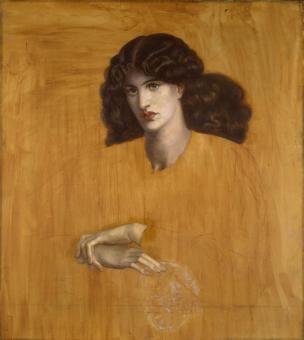 Oil Painting - La Donna Della Finestra [The Lady of Pity] Dante Gabriel Rossetti