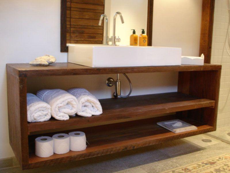 banheiro madeira reaproveitada  Pesquisa Google  Ideias para apartamento   -> Armario De Banheiro Madeira Demolicao