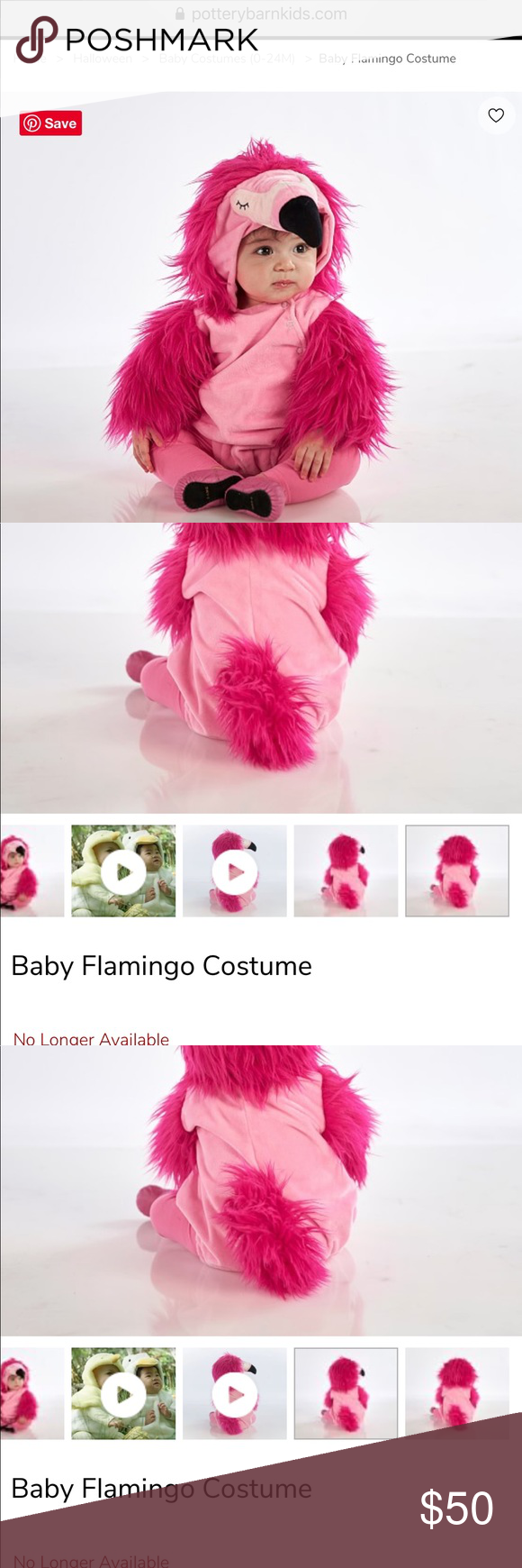 Baby Flamingo Costume NWT Pottery barn kids costume