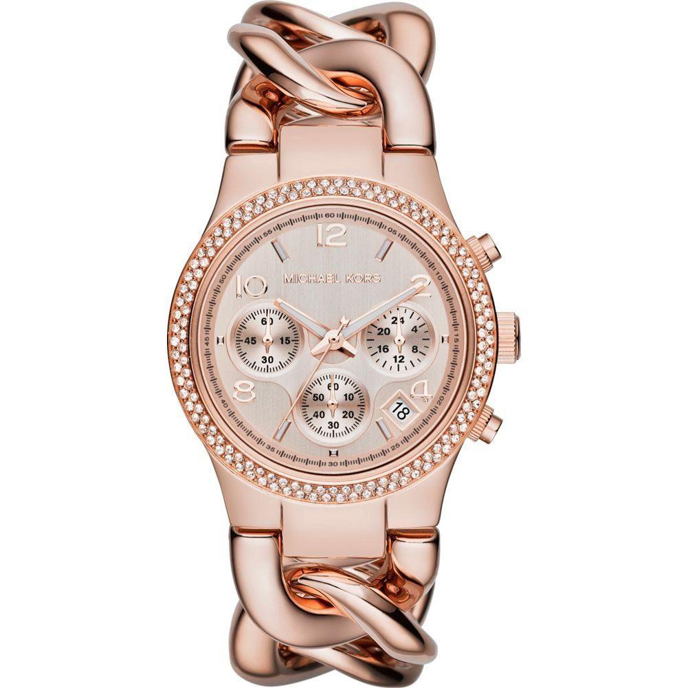 Michael Kors Watches Runway Twist Watch (Rose Gold)