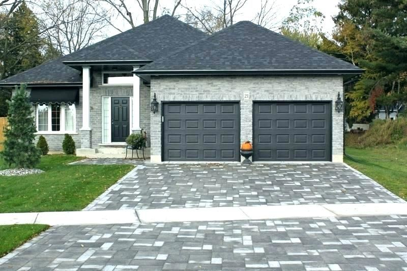 Image Result For White House With Dark Garage Doors Brick House Colors Exterior Brick Facade House