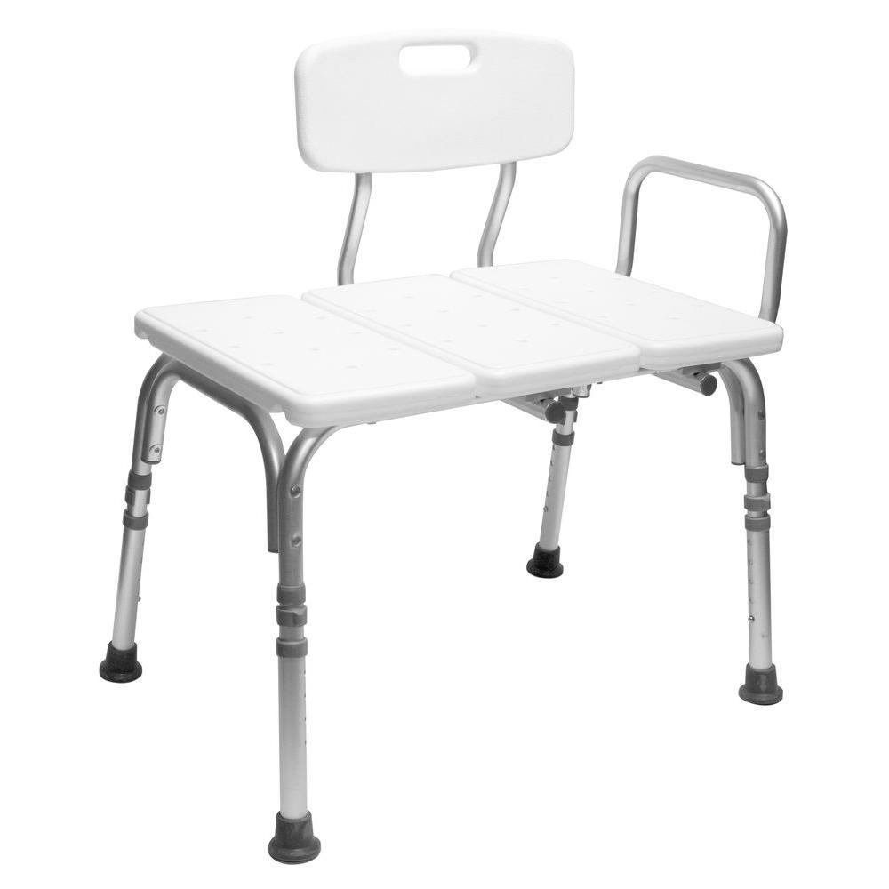 Carex Health Brands Transfer Tub Seat White Transfer Bench