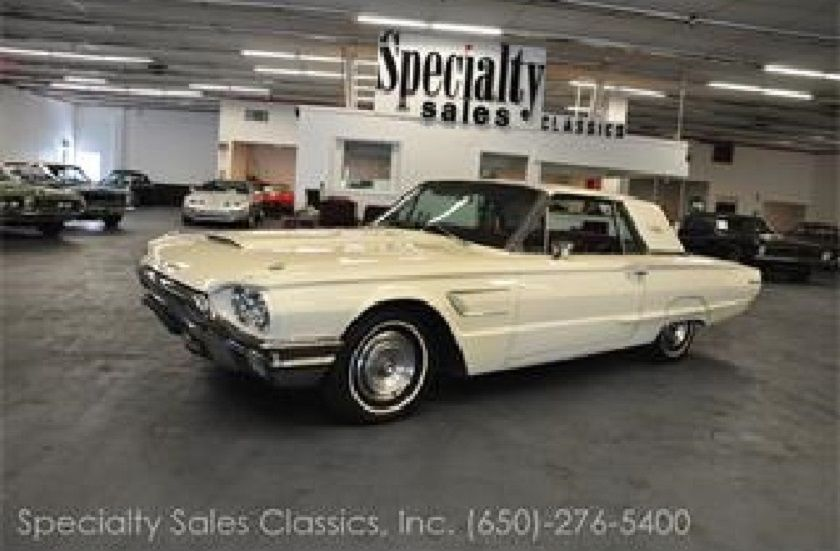 1965 Ford Thunderbird White With Red Interior With Images
