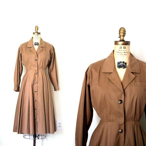 vintage shirt dress 1980's designer ANNE KLEIN II by capricorne, $40.00