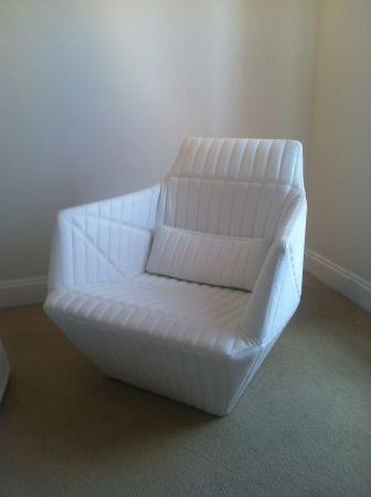 New York: Ligne Roset Facett Armchair - Indiana Blanc Leather $1995 - http://furnishlyst.com/listings/400930