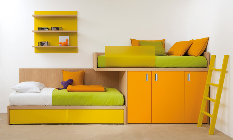 dekorationn Kinder Möbel Betten, Etagenbetten und Stoffe und ... | {Etagenbett mit stauraum 82}