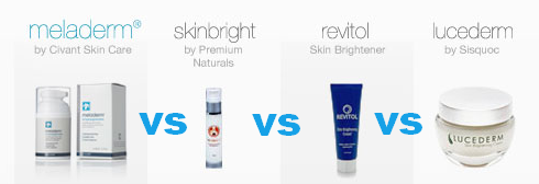 Meladerm #skinlightening side by side comparison. #skincare #beauty
