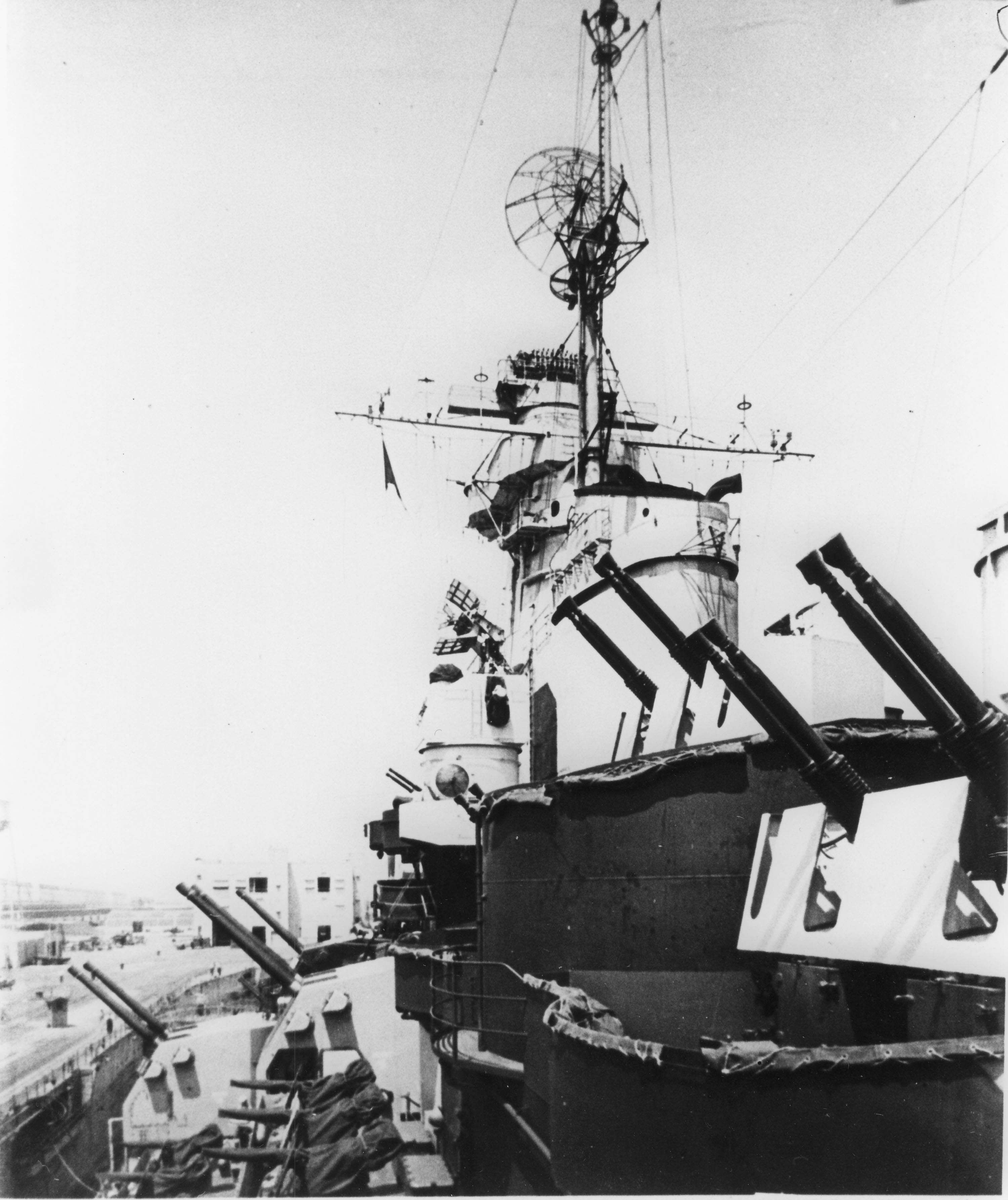 View of the secondary armament.