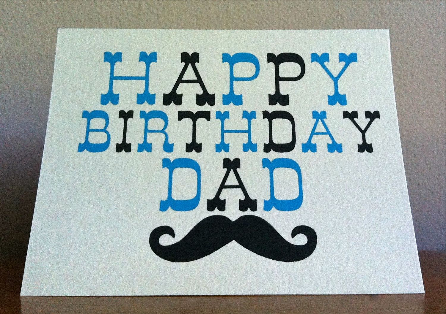 Dad birthday card happy birthday dad moustache card typography dad birthday card happy birthday dad moustache card typography 400 via kristyandbryce Image collections
