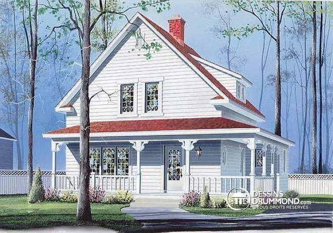 Plan de maison no W2530 de dessinsdrummond Cottages