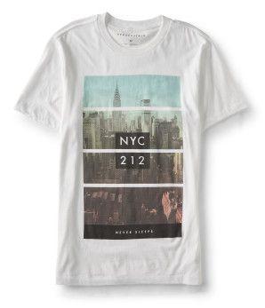Aeropostale Boys Never Graphic T-Shirt