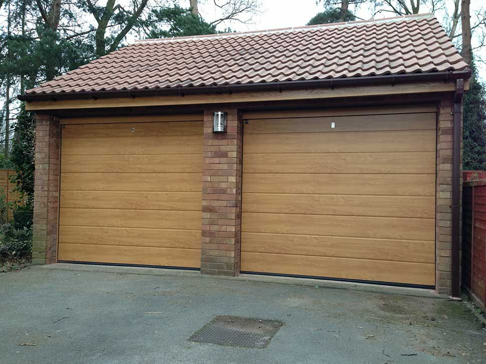 Hormann Light Oak Sectional doors & automation