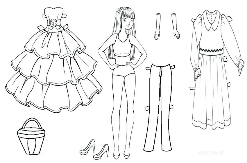 Paper Doll Coloring Pages Free Printable Templates Dolls Princess Paper Doll Template Paper Doll Printable Templates Paper Dolls