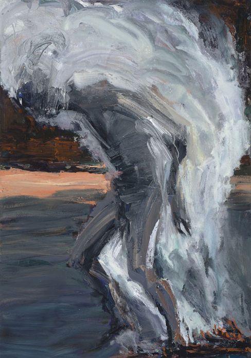 Euan Macleod (New Zealander, b. 1956, Christchurch, New Zealand) - Smoke On Back (Christian), 2013-14  Paintings: Acrylics, Oil on Canvas