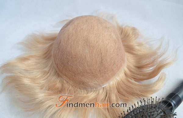 Light Blonde 100 Human Hair Wigs For Men   #MensWigs #Toupees #HairSystems #HairReplacement #FullLace #BlondeWigs