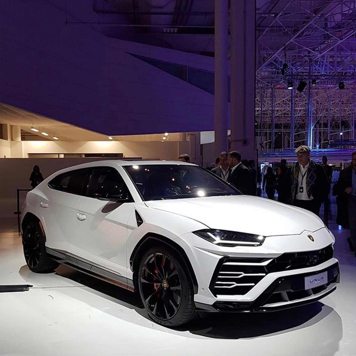 Lamborghini Urus Painted In Bianco Monocerus Photo Taken