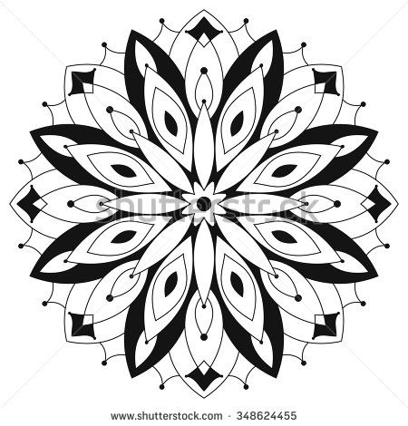 Symetrical Designs east ethnic round mandala. coloring for adults. symmetrical