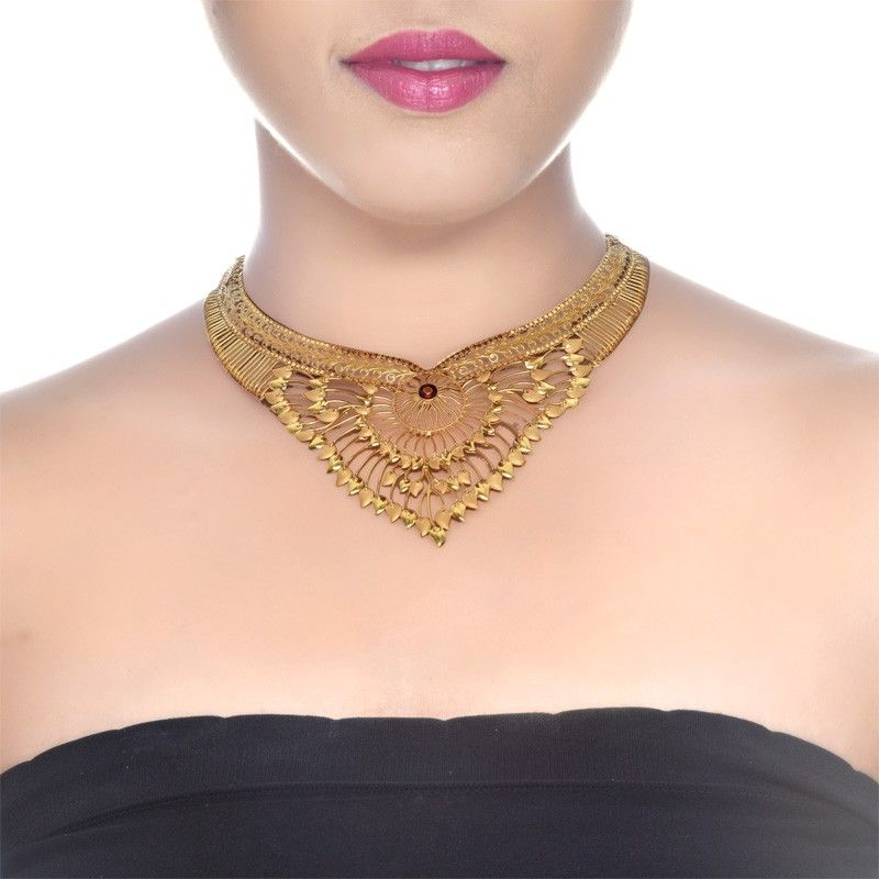 Senco Gold 22k Yellow Gold Wedding Necklace Gold Necklace Wedding Gold Necklace Designs Gold Necklace Indian Bridal Jewelry