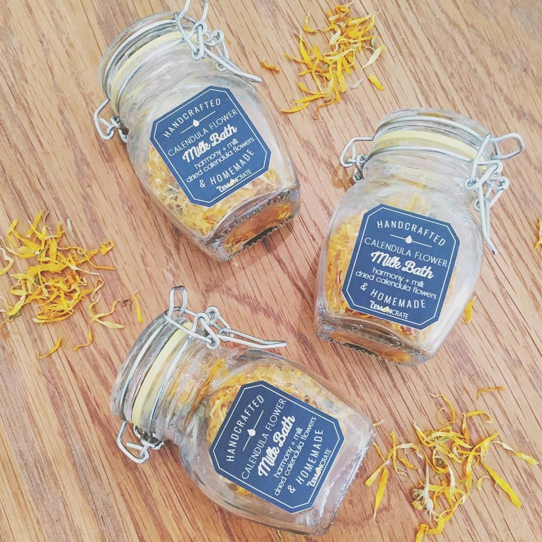 our Calendula Milk Bath...Fall is the perfect time to moisturize your skin in preparation for winter. Our milk bath was inspired by none other than Cleopatra. Isn't it time for a little self care? Recipe can be found on our Pinterest board. #milkbath #flowerpower #soakyourcaresaway #subscriptionbox #essentialoils #fallmilkbath our Calendula Milk Bath...Fall is the perfect time to moisturize your skin in preparation for winter. Our milk bath was inspired by none other than Cleopatra. Isn't it tim #milkbath