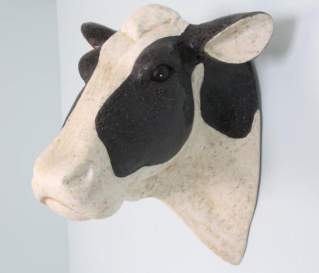 Fantastic Friesian Cow Head Resin Faux Taxidermy Wall Hanging Cow Head Faux Taxidermy Cow