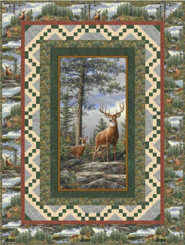 Deer Mountain Free Quilt Pattern Quilting-panels Pinterest Patterns, Panel quilts and Star ...