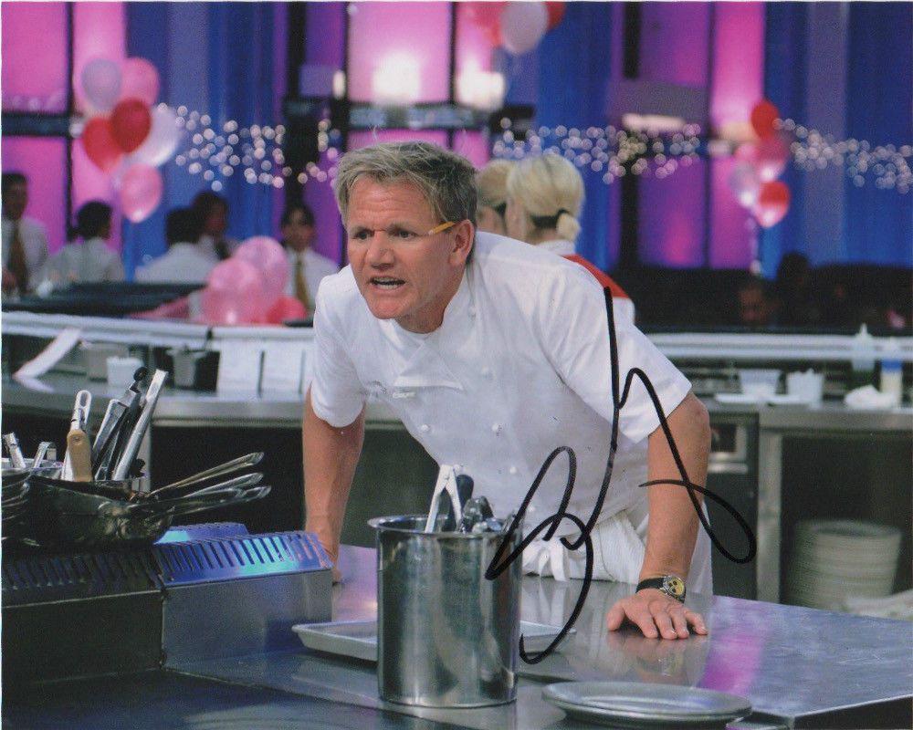 Gordon ramsay autographed signed 8x10 photo coa 1