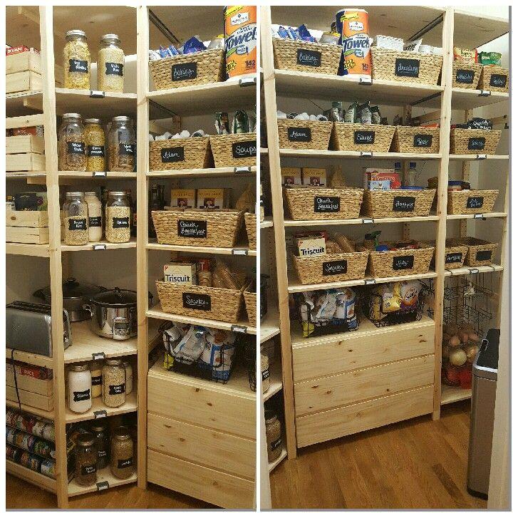 ikea ivar and walmart pantry remodel pantry pinterest vorratsraum und zimmer einrichten. Black Bedroom Furniture Sets. Home Design Ideas