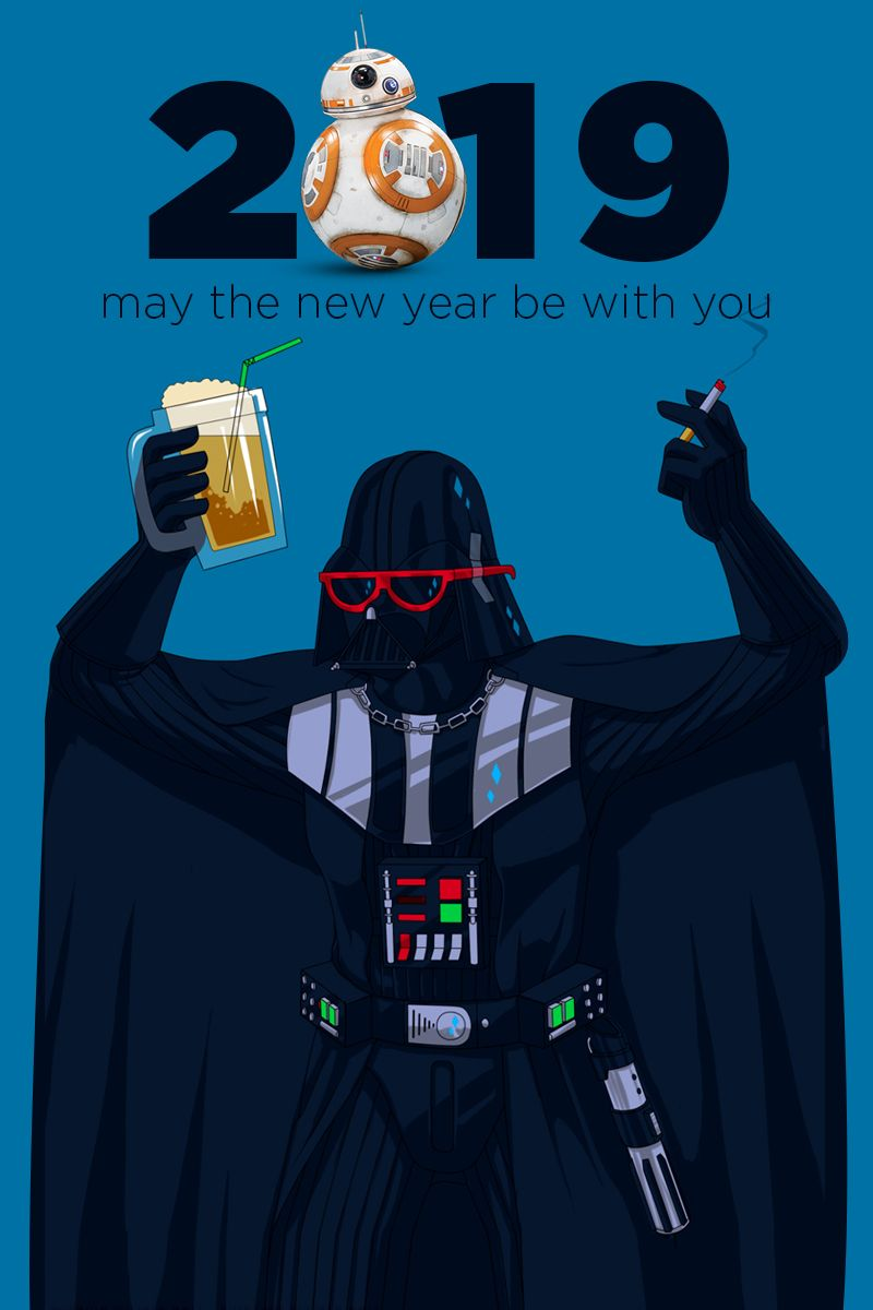 Vader celebrating the new year! saberporn Happy new