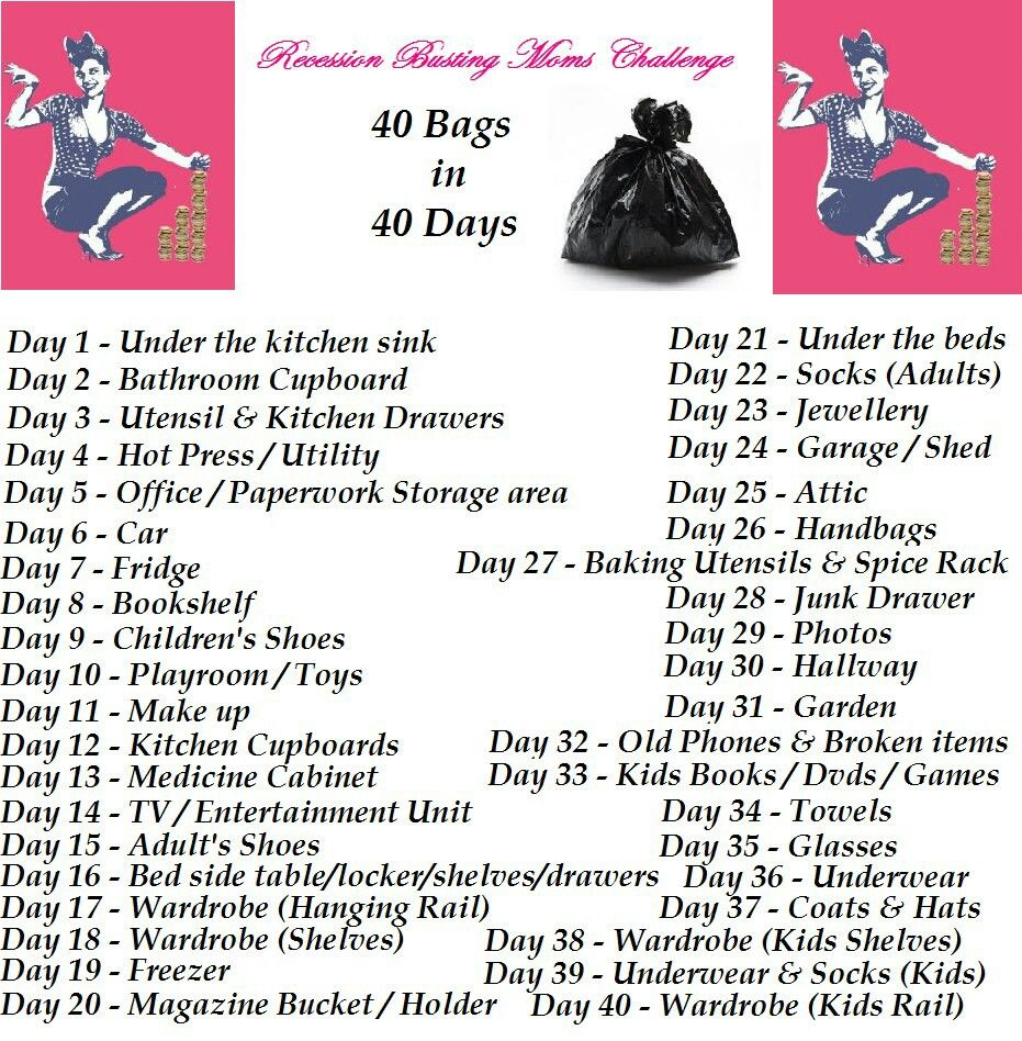 Declutter List 40 Bags In 40 Days Shower Cleaner