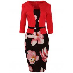 SHARE & Get it FREE | Floral Jacket Look Pencil DressFor Fashion Lovers only:80,000+ Items • FREE SHIPPING Join Twinkledeals: Get YOUR $50 NOW!