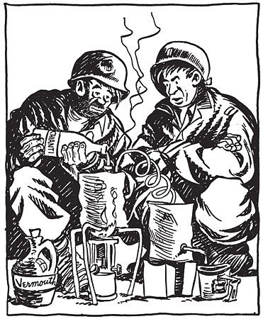 """""""Hell of a way to waste time. Does it work?"""" A 1944 Mauldin cartoon. Credit From """"Bill Mauldin: A Life Up Front"""""""