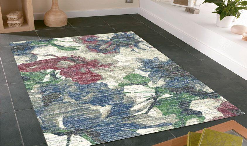 Tappeto CAPRI 327496268 con disegno a fiori Tappeti