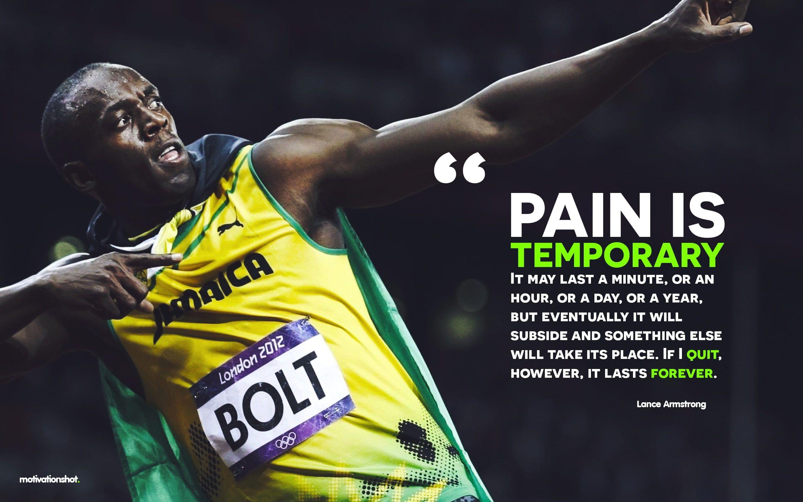 Wallpaper Yellow Jersey With Text Overlay Usain Bolt Running Motivational Running Motivation Quotes Usain Bolt Quotes Usain Bolt