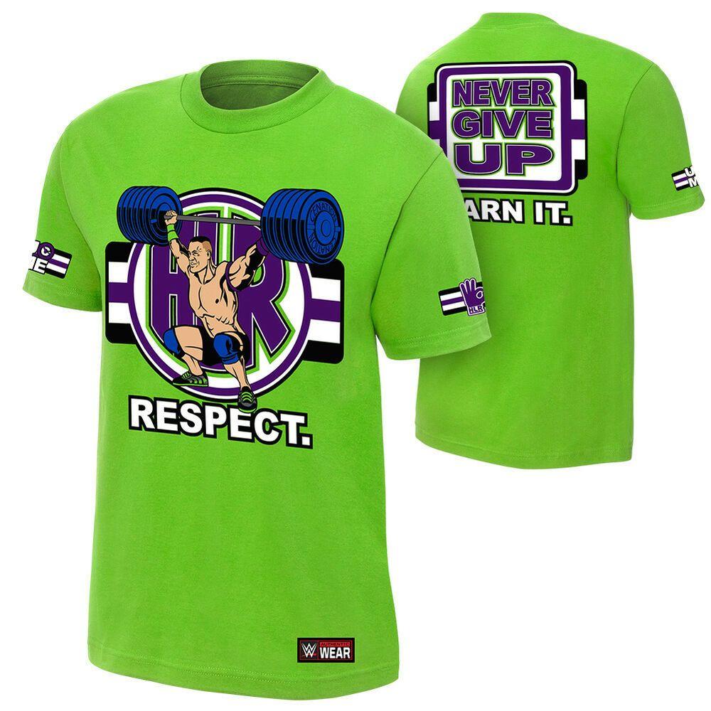 John Cena Kids Lime Green Neon Green Boys Costume T-shirt Hat Wristbands