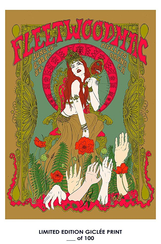 Rare Poster Stevie Nicks Fleetwood Mac Music Giclee D 100 12x18 Vintage Music Posters Psychedelic Poster Concert Posters