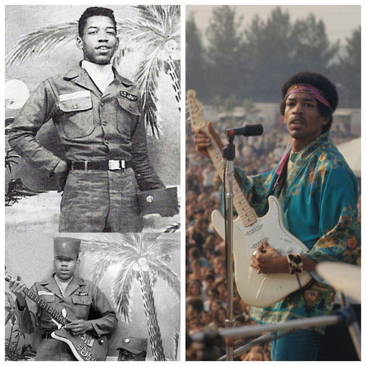 Jimi Hendrix-Army-1960's-served with 101st airborne, broke ... | 1200 x 1200 jpeg 224kB
