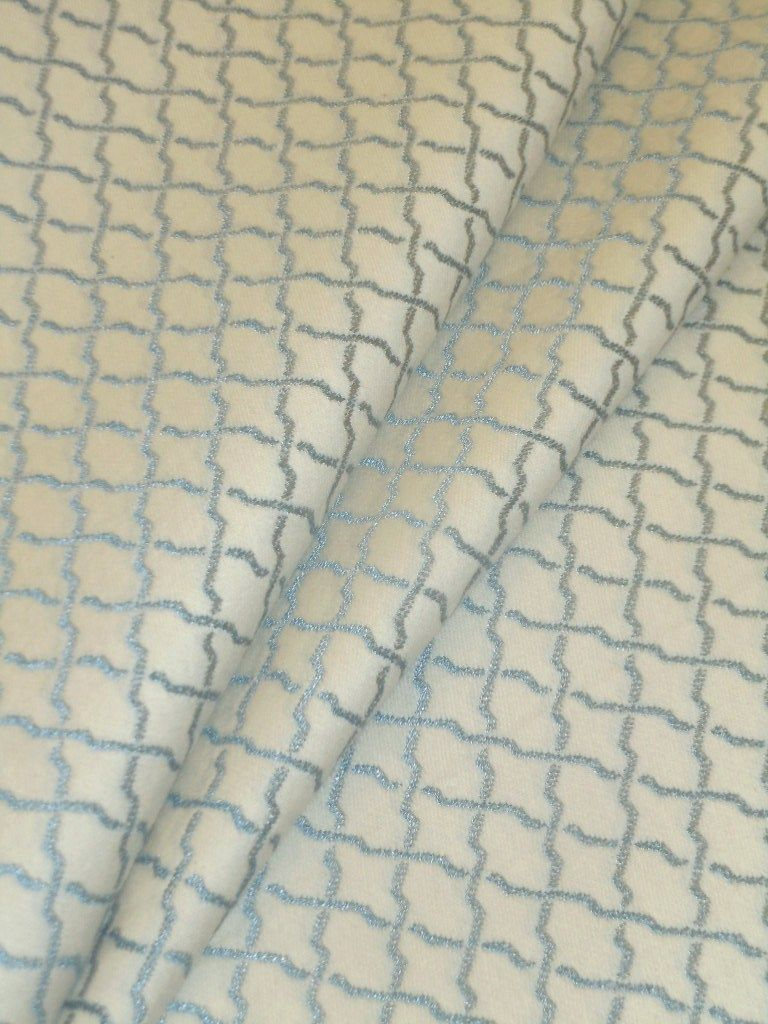 Pattern Provential Color French Blue In 2020 Luxury Fabrics Home Decor Fabric Grid Design