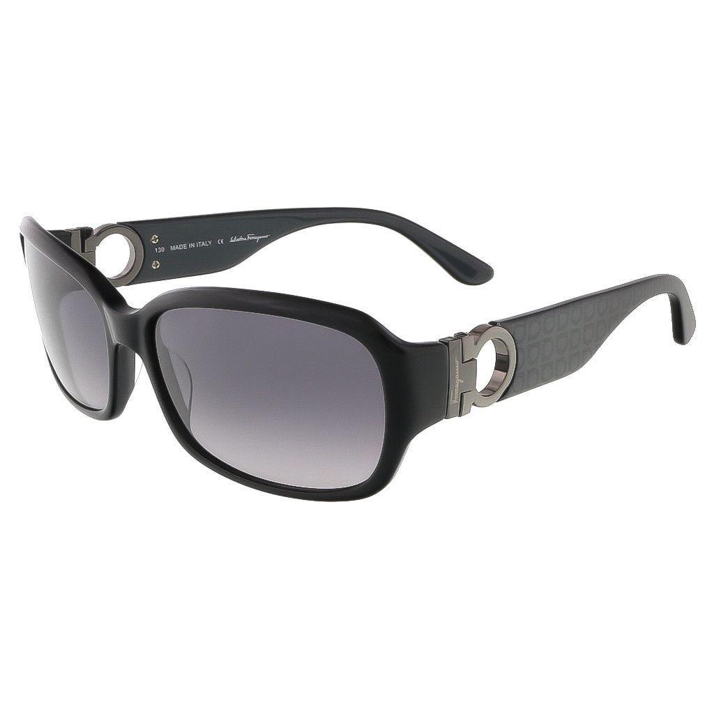 Salvatore Ferragamo Black Rectangular Sunglasses   Gafas de Sol ... 459ec3fbdd