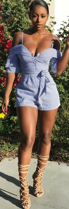 Striped Sensation - How To Style By Kristii Rose | Black women Woman and Beautiful black women