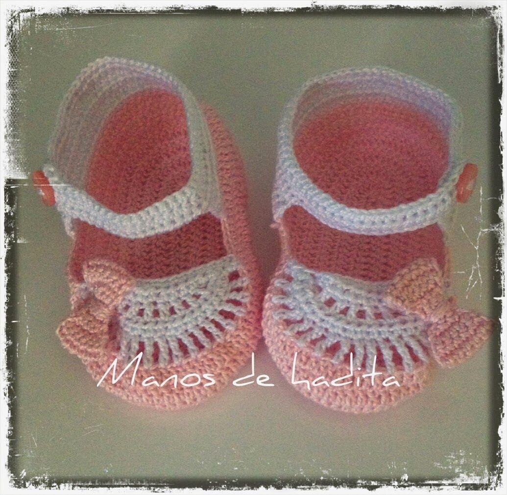 Moderno Los Patrones De Crochet Libre Zapatos De Bebé Inspiración ...