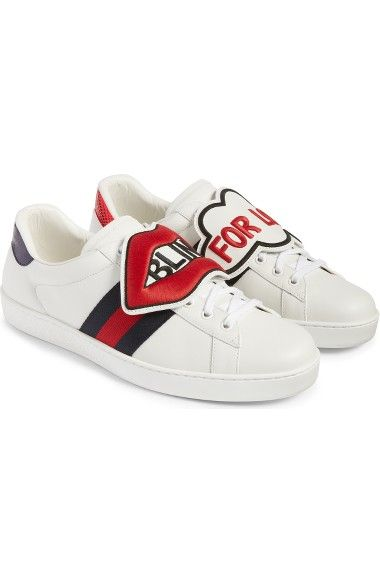 GUCCI New Ace Embroidered Patch Sneaker.  gucci  shoes     Gucci Men ... 97a534f44eb3