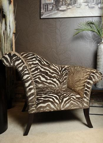 Exceptional African Zebra Chill Chair From The Enchanted Barn