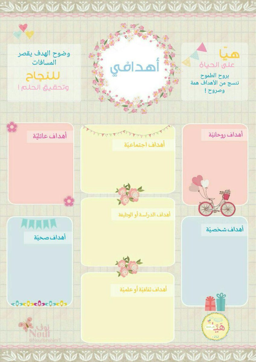 اله ياء س ليمان On Twitter Planner Organization Kids Planner Print Planner