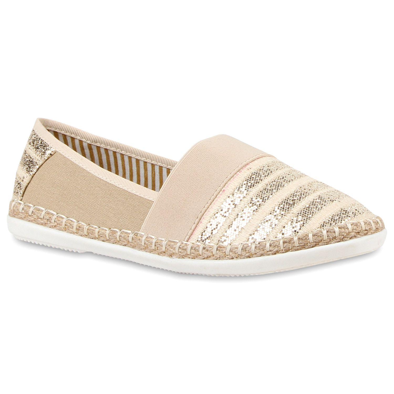 Damen Slippers Espadrilles Creme Espadrilles Summer And Fashion