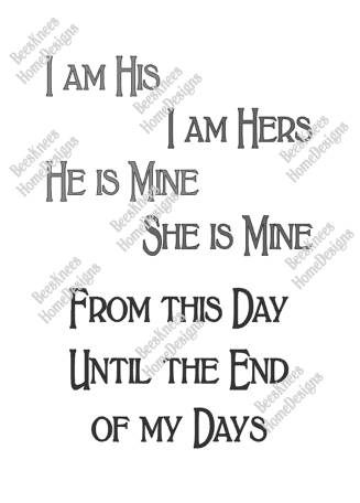 Of Thrones Wedding Vows Got Design Digital Cut File Instant For