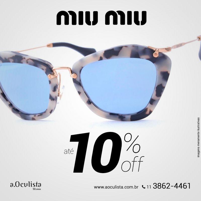 Óculos de Sol Miu Miu Noir com até 10% com desconto, corre! Compre pelo  site em até 10x Sem Juros e Frete Grátis nas compras acima de R 400,00  reais. ... 22ec898728