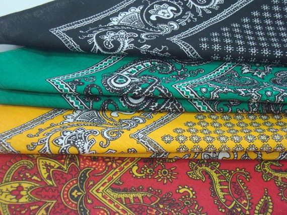 SALE 4 Mexican bandanas paliacate handkerchief red by Dimicreativa, $19.00