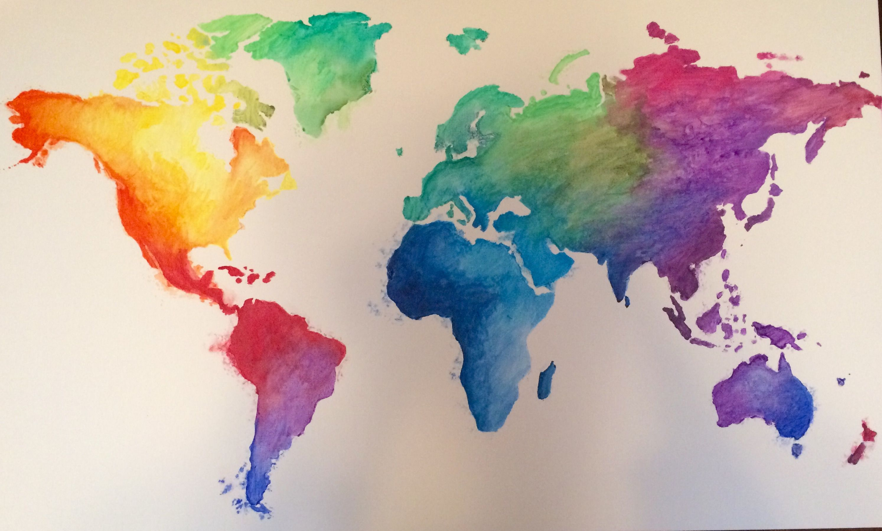 Colorful World Watercolor Painting Learn To Paint Art Challenge